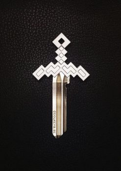 1-COOL-KEYS-PIXEL-SWORD-KEY-CHROME-MATTE-DESIGN-JEWELRY-JEWELLERY