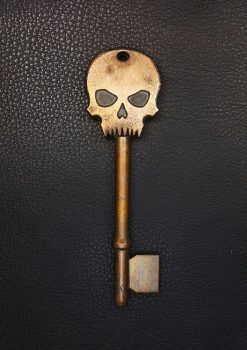 1-COOL-KEYS-METAL-SKULL-KEY-ANTIQUE-COPPER-DESIGN-JEWELRY-JEWELLRY