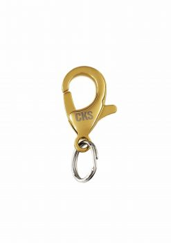 Nykelhake guld rostfri med nyckelring