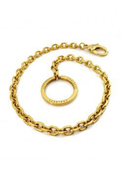 nyckelkedja guld väskkedja snett från sidan