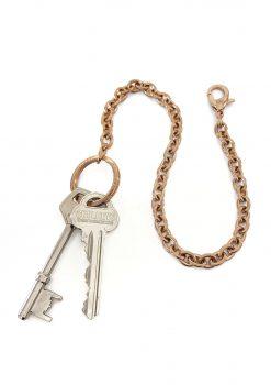 Nyckelkedja rose guld med design nyckelring och nycklar keychain rose gold