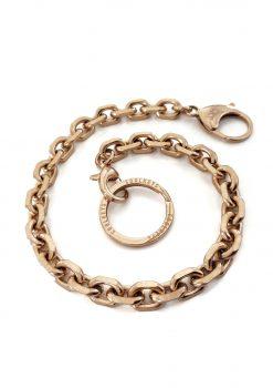 Nyckelkedja rose guld med design nyckelring från sidan keychain rose gold