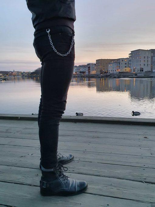 Nyckelkedja rostfri från sidan Eriksbergs kajen
