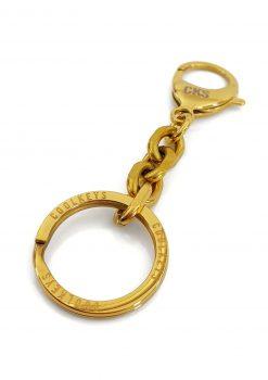 Nyckelknippa i guld med design nyckelring