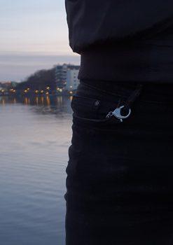 Nyckelknippa rostfri med deisgn nyckelring Eriksbergs kajen 2