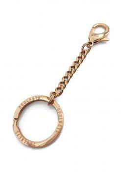 Nyckelknippa roseguld med design nyckelring från sidan viper