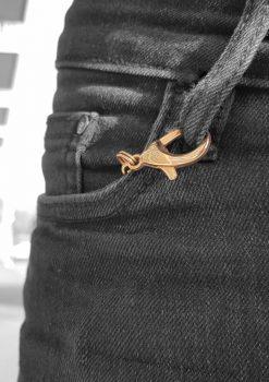 nyckelknippa rose guld nyckelkedja med design nyckelring i fickan