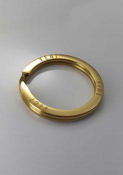Nyckelring guld design