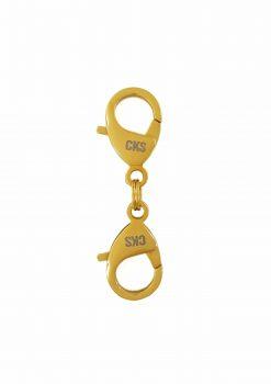 double hook flexible 18k gold