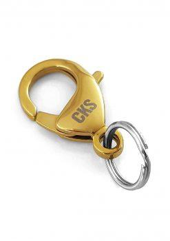 Hake med nyckelring guld