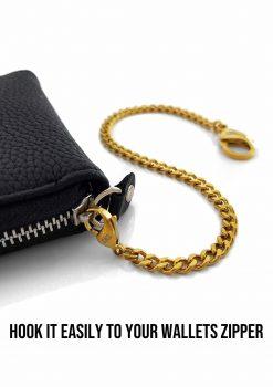 Plånbokskedja guld rostfri