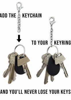 mini nyckelkedja rostfri