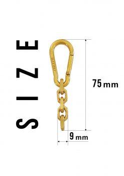 carabiner keychain 18K gold